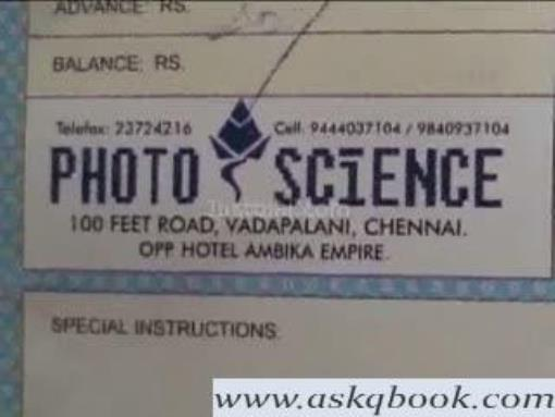 Photo Science, Vadapalani - Foto Science - Photo Studios in Chennai
