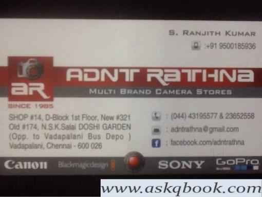 ADNT Rathna, Vadapalani - Camera Dealers in Chennai - Cameras